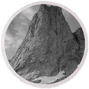 109649-bw-north Face Pingora Peak, Wind Rivers Round Beach Towel