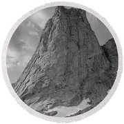 109649-bw-north Face Pingora Peak, Wind Rivers Round Beach Towel