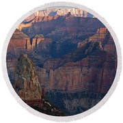North Rim Sunset Round Beach Towel