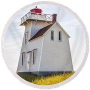 North Rustico Lighthouse Round Beach Towel