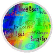 North Shore Beaches Round Beach Towel
