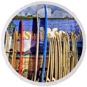 North Shore Surf Shop Round Beach Towel