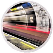 Northbound Underground Round Beach Towel