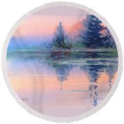 Northern Isle Round Beach Towel