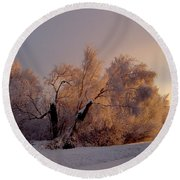 Round Beach Towel featuring the photograph Northern Light by Jeremy Rhoades