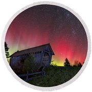 Northern Lights - Painted Sky Round Beach Towel