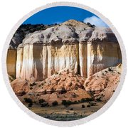 Northern New Mexico Round Beach Towel