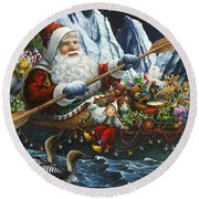 Northern Passage Round Beach Towel by Lynn Bywaters