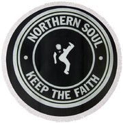 Northern Soul Dancer Inverted Round Beach Towel