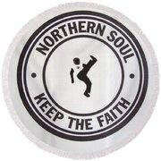 Northern Soul Dancer Round Beach Towel
