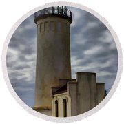 North Head Lighthouse Round Beach Towel