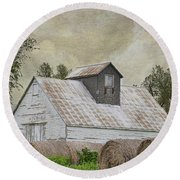 Round Beach Towel featuring the photograph Nortonville Kansas by Liane Wright