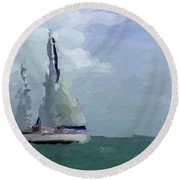 Not Far From Paradise Round Beach Towel by Anthony Fishburne