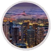 Round Beach Towel featuring the photograph Not Hong Kong by Ron Shoshani