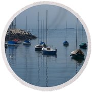 Round Beach Towel featuring the photograph Sail Boats  by Eunice Miller