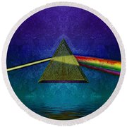 Round Beach Towel featuring the digital art Not So Dark Side 2 by WB Johnston