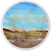 Not So Far Away Round Beach Towel