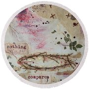 Round Beach Towel featuring the painting Nothing Compares by Jocelyn Friis