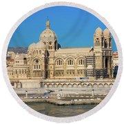 Notre Dame De La Garde, Marseille Round Beach Towel