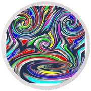 Novino  Clueless In Seattle  Funny Comedy Cartoon Background Designs  And Color Tones N Color Shades Round Beach Towel