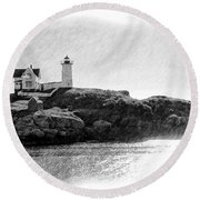 Nubble Round Beach Towel