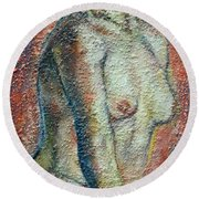 Nude Lisbeth Round Beach Towel