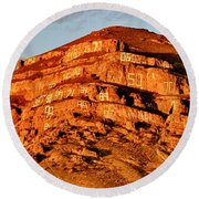 Round Beach Towel featuring the photograph Number Hill by Benjamin Yeager