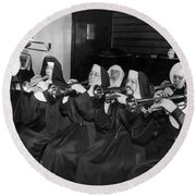 Nuns Rehearse For Concert Round Beach Towel