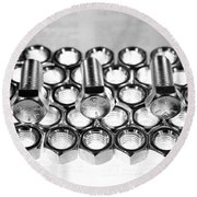 Nuts And Bolts Round Beach Towel