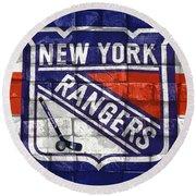 Ny Rangers-2 Round Beach Towel