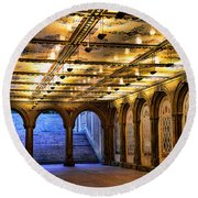 Nyc Bethesda Terrace Round Beach Towel