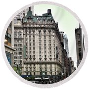 Nyc Radisson Hotel Round Beach Towel