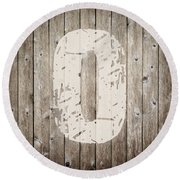 O Round Beach Towel by Andrea Anderegg