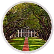 Oak Alley II Round Beach Towel