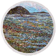 Oak Bay - Low Tide Round Beach Towel