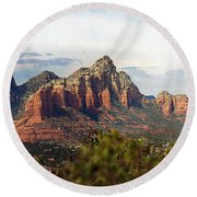 Oak Creek Canyon Sedona Pan Round Beach Towel