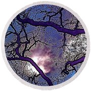 Round Beach Towel featuring the photograph Oaks 11 by Pamela Cooper
