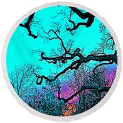 Round Beach Towel featuring the photograph Oaks 4 by Pamela Cooper