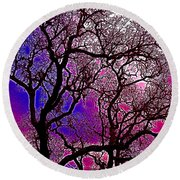 Round Beach Towel featuring the photograph Oaks 6 by Pamela Cooper