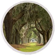Oaks Of The Golden Isles Round Beach Towel by Adam Jewell