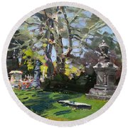 Oakwood Cemetery Round Beach Towel