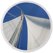 Obsession Sails 1 Round Beach Towel
