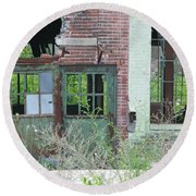 Round Beach Towel featuring the photograph Obsolete by Ann Horn