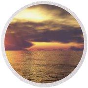 Round Beach Towel featuring the digital art Ocean 2 by Mark Greenberg