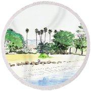 Ocean Beach Round Beach Towel