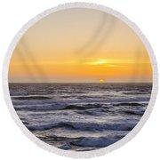 Ocean Beach Sunset Round Beach Towel