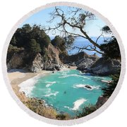 Ocean Bliss Round Beach Towel