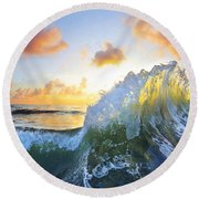 Ocean Bouquet Round Beach Towel