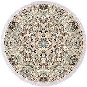 Ocean Breeze 51c02 - Mandala Round Beach Towel
