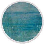 Ocean Breeze Round Beach Towel